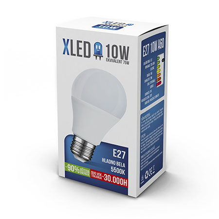 XLED E27 10W HB