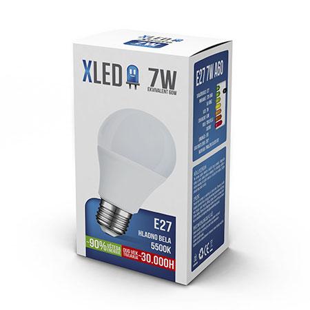 XLED E27 7W HB
