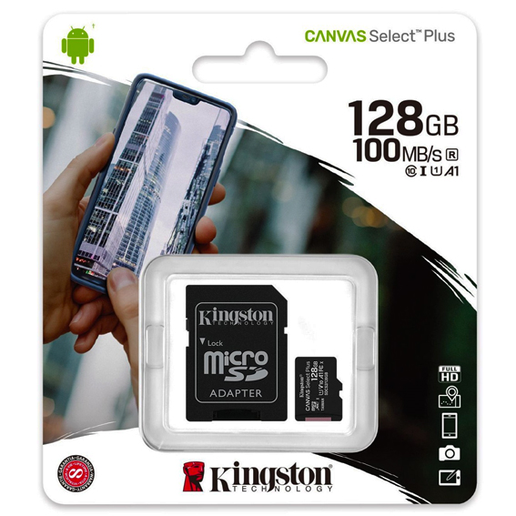 micro-sd-128gb-kingston-kl10 canvas select