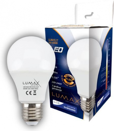 Lumax E27 9W 6500K